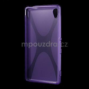 Fialový gélový obal pre Sony Xperia M4 Aqua - 4