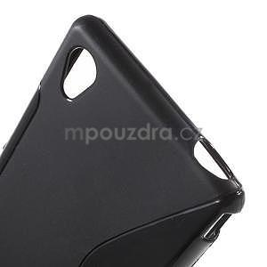 Černý s-line pružný obal na Sony Xperia M4 Aqua - 4