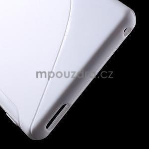 Biely s-line pružný obal pre Sony Xperia M4 Aqua - 4