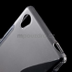 Šedý s-line pružný obal na Sony Xperia M4 Aqua - 4