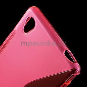 Rose s-line pružný obal pre Sony Xperia M4 Aqua - 4