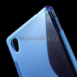 Modrý s-line pružný obal pre Sony Xperia M4 Aqua - 4
