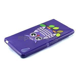Gelový kryt na Sony Xperia M4 Aqua - fialová sova - 4