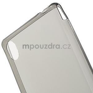 Sivý ultra tenký obal pre Sony Xperia M4 Aqua - 4