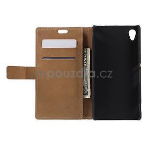 Peňaženkové puzdro pre Sony Xperia M4 Aqua - koruna motýľ - 4