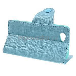 Peněženkové PU kožené pouzdro na Sony Xperia Z1 Compact - modré - 4