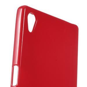 Gloss lesklý gélový obal pre Sony Xperia Z5 - červený - 4
