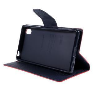 Mercur peněženkové pouzdro na Sony Xperia Z5 - červené - 4