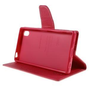 Mercur Peňaženkové puzdro pre Sony Xperia Z5 - ružové - 4