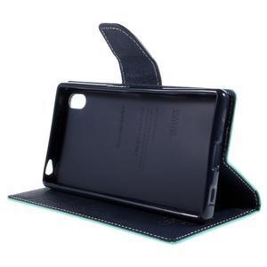 Mercur Peňaženkové puzdro pre Sony Xperia Z5 - cyan - 4