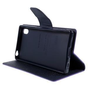 Mercur peněženkové pouzdro na Sony Xperia Z5 - fialové - 4