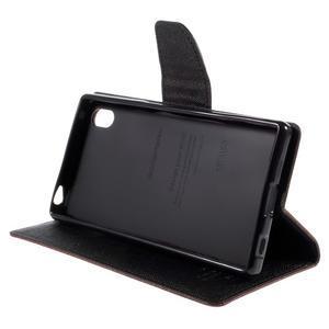 Mercur peněženkové pouzdro na Sony Xperia Z5 - hnědé - 4