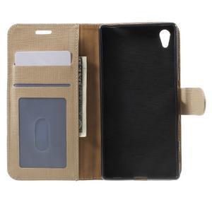 Grid PU kožené pouzdro na Sony Xperia Z5 - champagne - 4