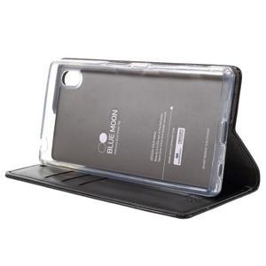 Moon PU kožené puzdro pre Sony Xperia Z5 - čierne - 4
