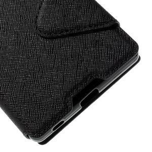 Diary puzdro s okienkom na Sony Xperia Z5 - čierne - 4