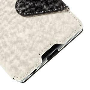 Diary puzdro s okienkom na Sony Xperia Z5 - biele - 4