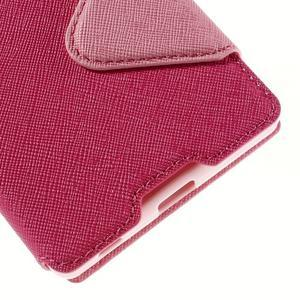 Diary pouzdro s okýnkem na Sony Xperia Z5 - rose - 4