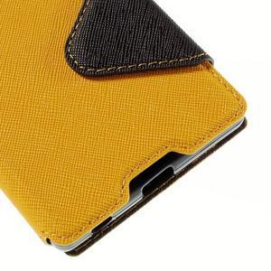 Diary puzdro s okienkom na Sony Xperia Z5 - žlté - 4