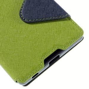 Diary pouzdro s okýnkem na Sony Xperia Z5 - zelené - 4
