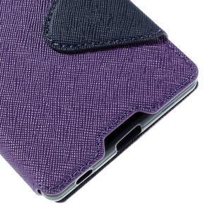 Diary puzdro s okienkom na Sony Xperia Z5 - fialové - 4