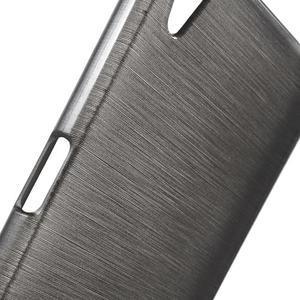 Brush lesklý gelový obal na Sony Xperia Z5 - šedý - 4