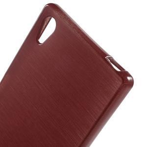 Brush lesklý gelový obal na Sony Xperia Z5 - červený - 4