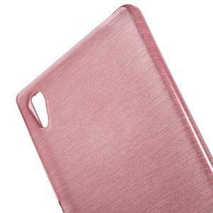 Brush lesklý gélový obal pre Sony Xperia Z5 - ružový - 4