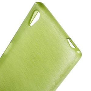 Brush lesklý gélový obal pre Sony Xperia Z5 - zelený - 4