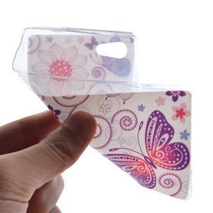 Gélový obal pre mobil Sony Xperia Z5 - kvetiny a motýľ - 4
