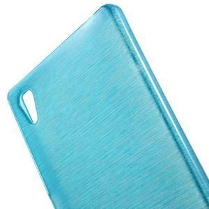 Brush lesklý gelový obal na Sony Xperia Z5 - modrý - 4