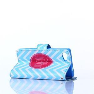 Sand puzdro pre mobil Sony Xperia Z5 Compact - modrý chevron - 4