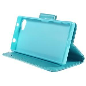 Diary Peňaženkové puzdro pre Sony Xperia Z5 Compact - vodní kvet - 4