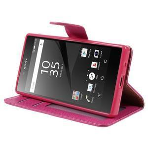 Grid Peňaženkové puzdro pre mobil Sony Xperia Z5 Compact - rose - 4