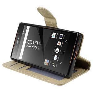 Grid Peňaženkové puzdro pre mobil Sony Xperia Z5 Compact - champagne - 4