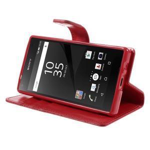 Bluemoon PU kožené puzdro pre Sony Xperia Z5 Compact - červené - 4