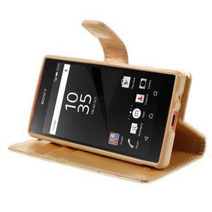 Bluemoon PU kožené puzdro pre Sony Xperia Z5 Compact - zlaté - 4