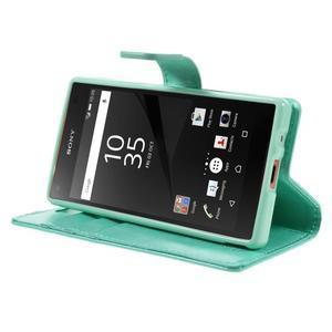 Bluemoon PU kožené puzdro pre Sony Xperia Z5 Compact - cyan - 4