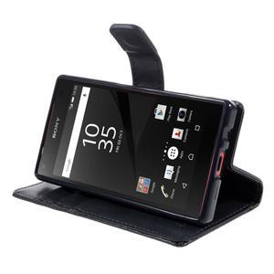 Bluemoon PU kožené pouzdro na Sony Xperia Z5 Compact - tmavěmodré - 4