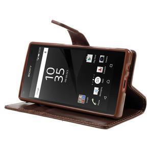 Bluemoon PU kožené puzdro pre Sony Xperia Z5 Compact - hnedé - 4