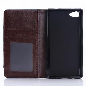 Stylové jeans pouzdro na mobil Sony Xperia Z5 Compact - černomodré - 4
