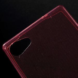 Ultratenký slim gélový obal pre Sony Xperia Z5 Compact - červený - 4