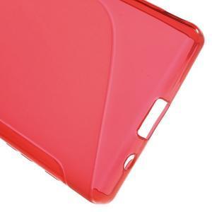 S-line gélový obal pre Sony Xperia Z5 Compact - červený - 4