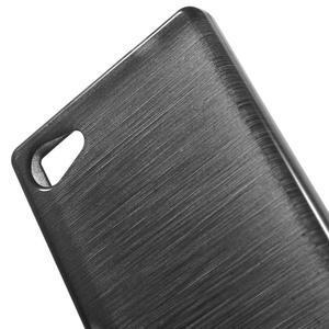 Brush gelový obal na Sony Xperia Z5 Compact - černý - 4