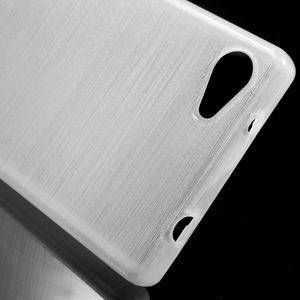 Brush gélový obal pre Sony Xperia Z5 Compact - biely - 4