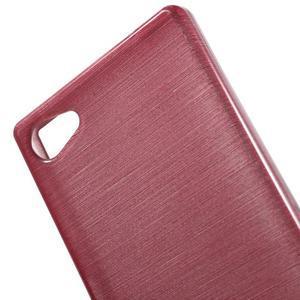 Brush gélový obal pre Sony Xperia Z5 Compact - ružový - 4