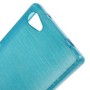 Brush gélový obal pre Sony Xperia Z5 Compact - modrý - 4