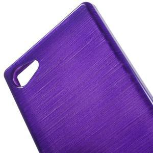 Brush gélový obal pre Sony Xperia Z5 Compact - fialový - 4