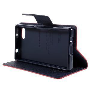 Fancy PU kožené puzdro pre Sony Xperia Z5 Compact - červené - 4