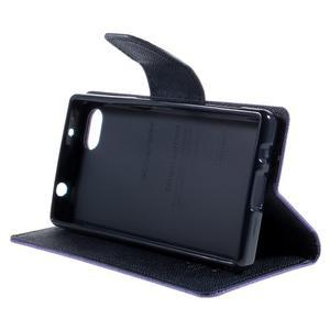 Fancy PU kožené pouzdro na Sony Xperia Z5 Compact - fialové - 4
