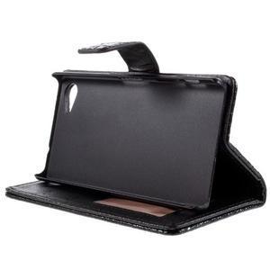 Croco Peňaženkové puzdro pre Sony Xperia Z5 Compact - čierne - 4